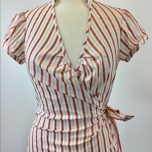 Express Striped Designer Blouse Size M (B-69)